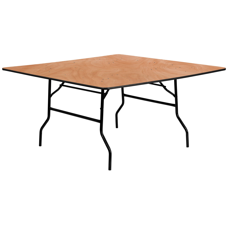60u0027u0027 Square Wood Folding Banquet Table
