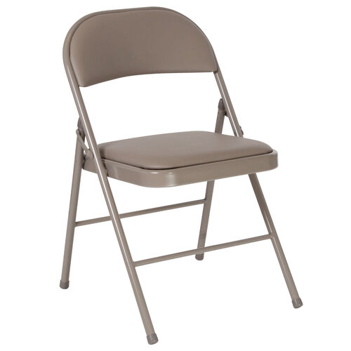 Our HERCULES Series Double Braced Gray Vinyl Folding Chair is on sale now.