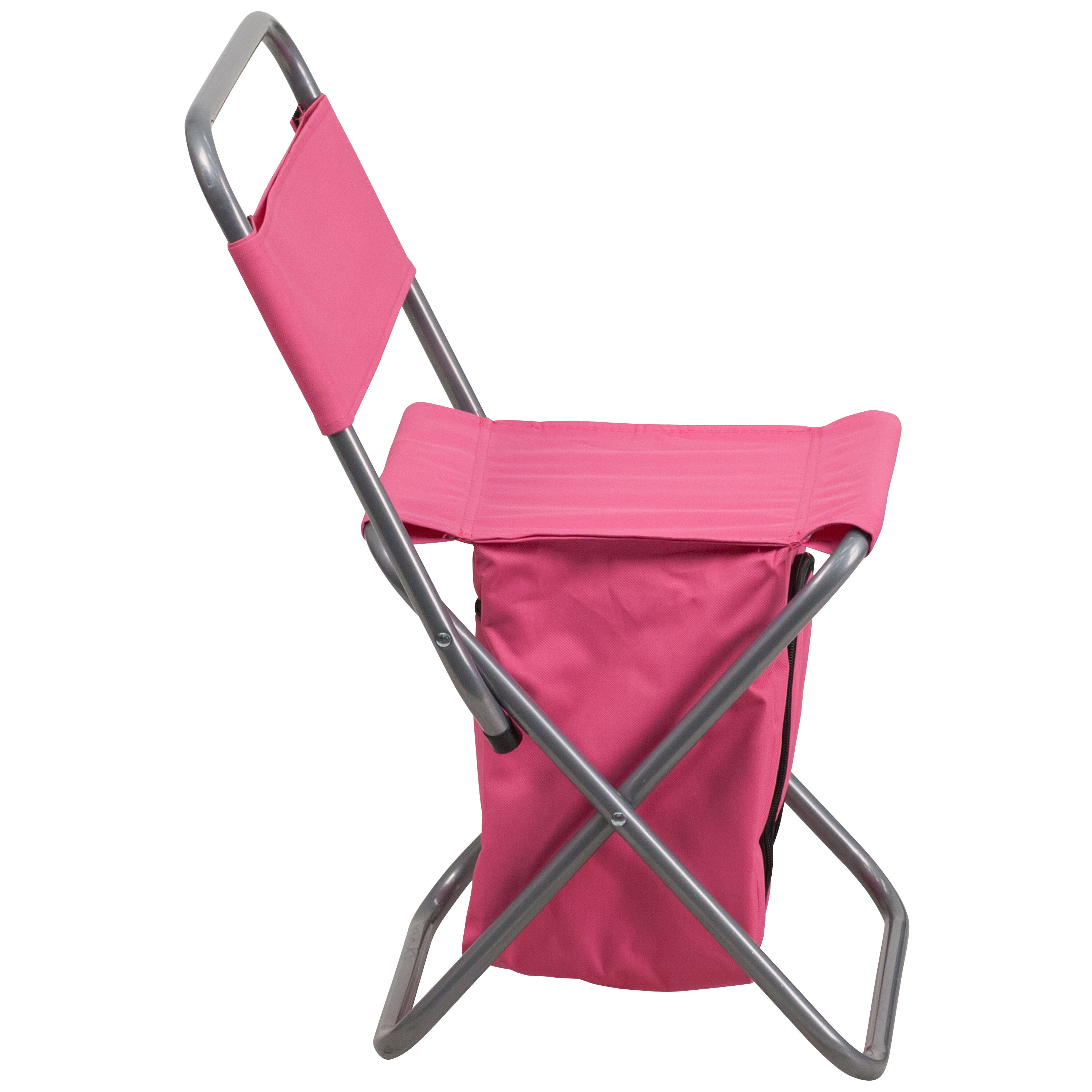 Our Folding Camping Chair With Insulated Storage In Pink Is On Sale Now.