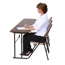 Folding Fixed Height Off-Set Leg Rectangular Seminar Table - 18