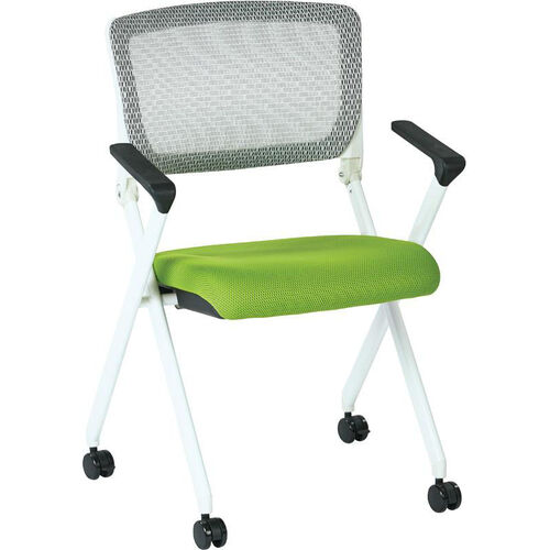 Our Space Pulsar Folding Chair with Breathable Mesh Back and Mesh Seat - Set of 2 - Green is on sale now.