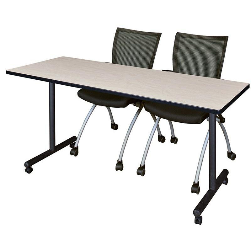 ... Our Kobe 72u0027u0027W x 24u0027u0027D Mobile Laminate Training Table with ...  sc 1 st  Folding Chairs 4 Less & Training Table and Chairs Set MKTRCC7224PL09BK | FoldingChairs4Less.com