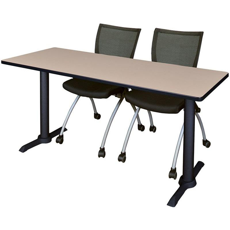 ... Our Cain 60u0027u0027W X 24u0027u0027D Laminate Training Table With 2 ...