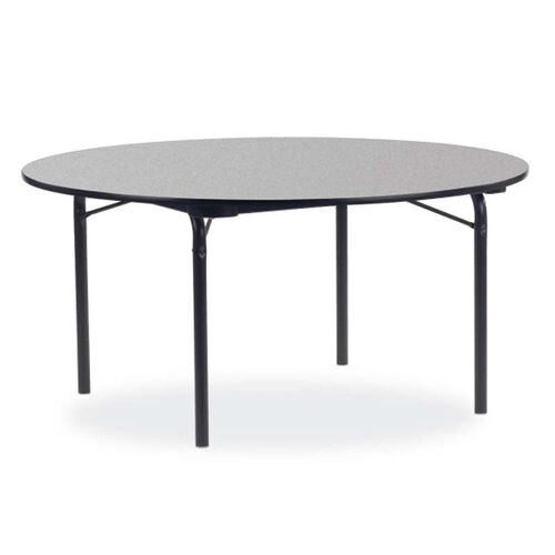 6000 Series Traditional Round Folding Laminate Table with Char Black Frame and Legs - 60