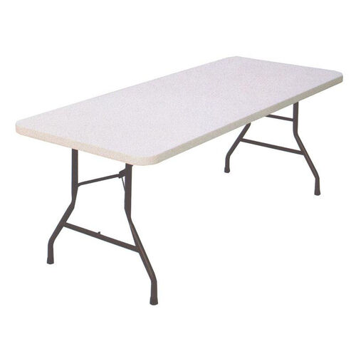Our Economy Blow-Molded Rectangular Plastic Top Folding Table - 72