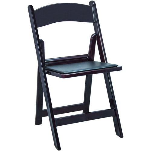 Advantage Mahogany Resin Folding Chairs