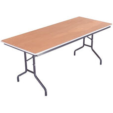 Sealed and Stained Plywood Top Table with Aluminum T - Molding Edge - 36