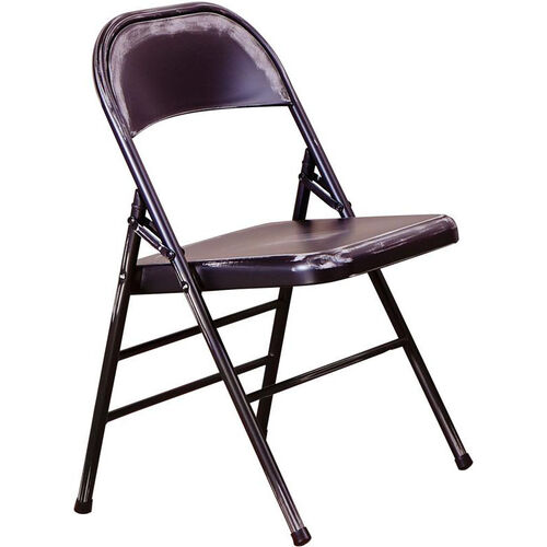 OSP Designs Bristow Distressed Steel Folding Chair - Set of 4