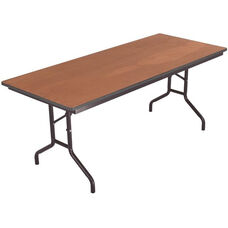 Sealed and Stained Plywood Top Table with Vinyl T - Molding Edge - 36