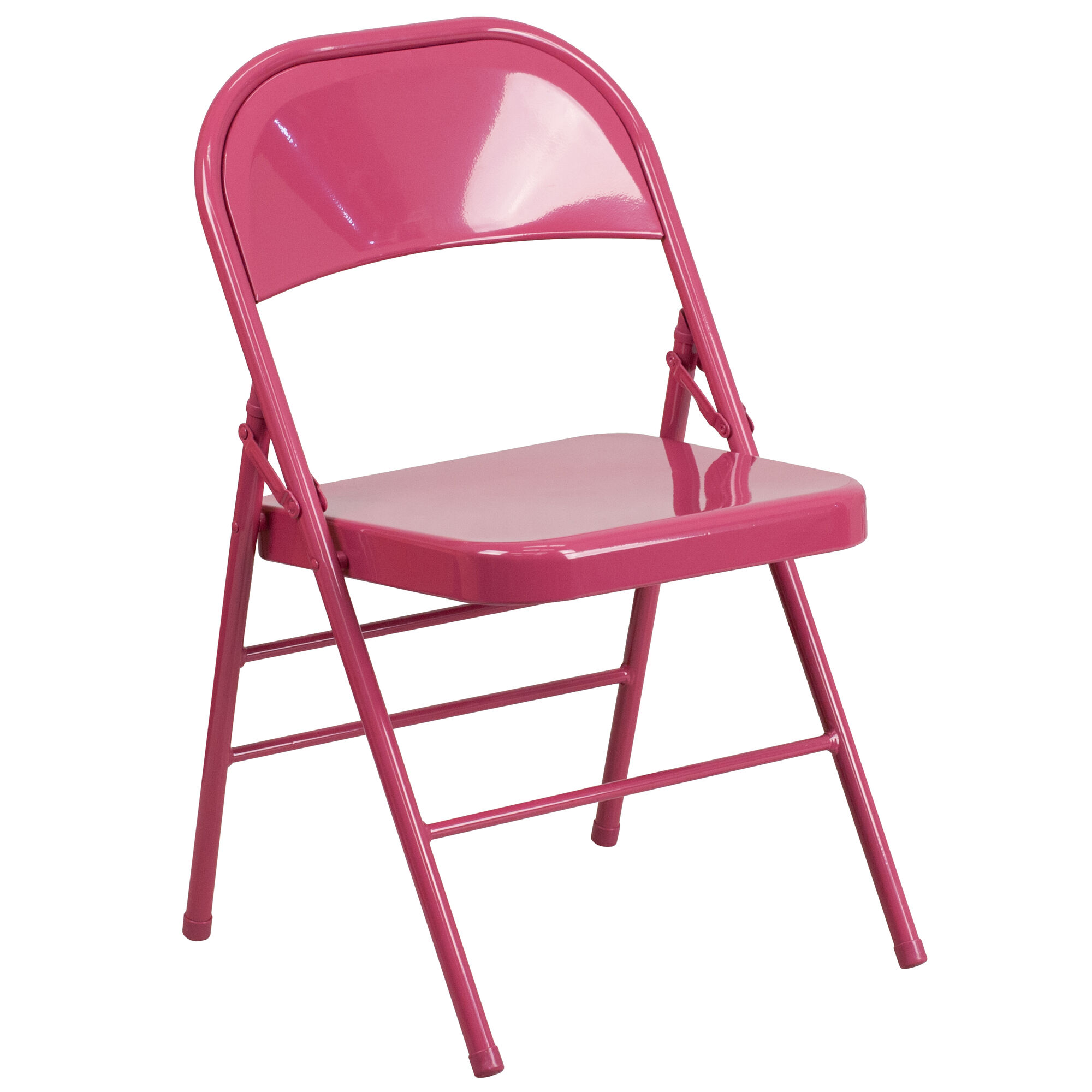 Fuchsia Folding Chair Hf3 Fuchsia Gg Foldingchairs4less Com