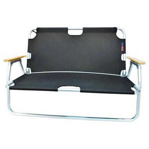 Two Person Folding Aluminum Frame Sport Couch with Storage