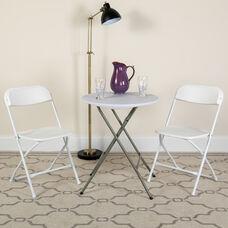 HERCULES Series 100 Pack 650 lb. Capacity Premium White Plastic Folding Chair