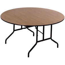 Laminate Top Particleboard Core Round Folding Seminar Table - 72