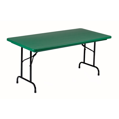 Our Standard Fixed Height Blow-Molded Plastic Top Rectangular Folding Table - 24