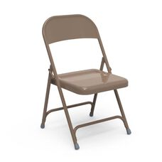 Multi-Purpose Steel Folding Chair with El Dorado Bronze Finish - 17.75