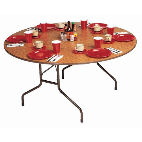 Our Standard Fixed Height Solid Plywood Core Round Folding Table - 60