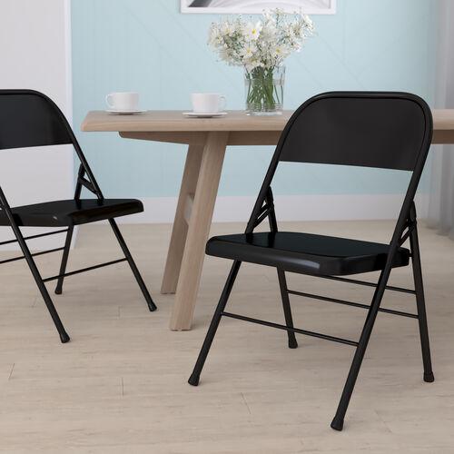 HERCULES Series Triple Braced & Double Hinged Metal Folding Chair