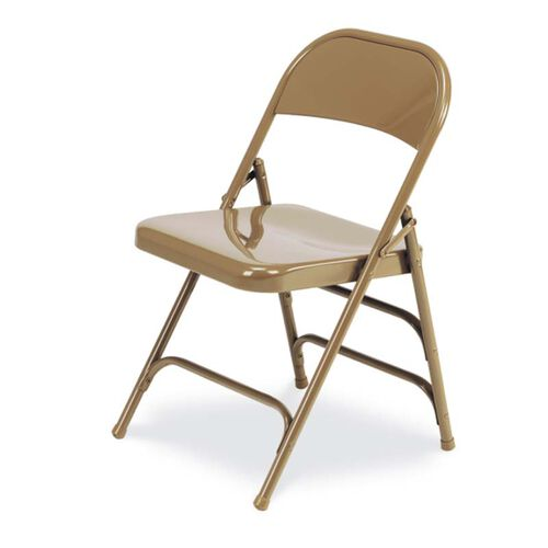 Our Quick Ship Multi-Purpose Steel Folding Chair with 2 Rear Leg Braces - Golden Bronze Finish - 17.75