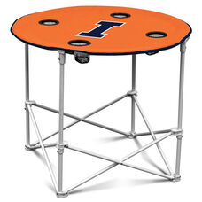 University of Illinois Team Logo Round Folding Table