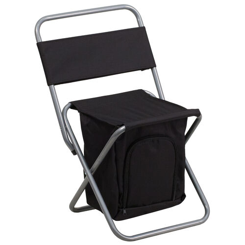 Folding Camping Chair with Insulated Storage