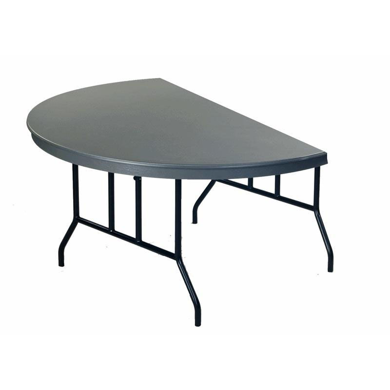 Dyna   Lite ABS Half Round Plastic Folding Table With Wishbone Legs   29