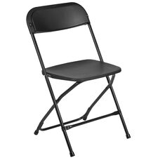 HERCULES Series 650 lb. Capacity Premium Black Plastic Folding Chair
