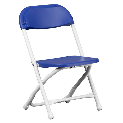Our Kids Blue Plastic Folding Chair is on sale now.