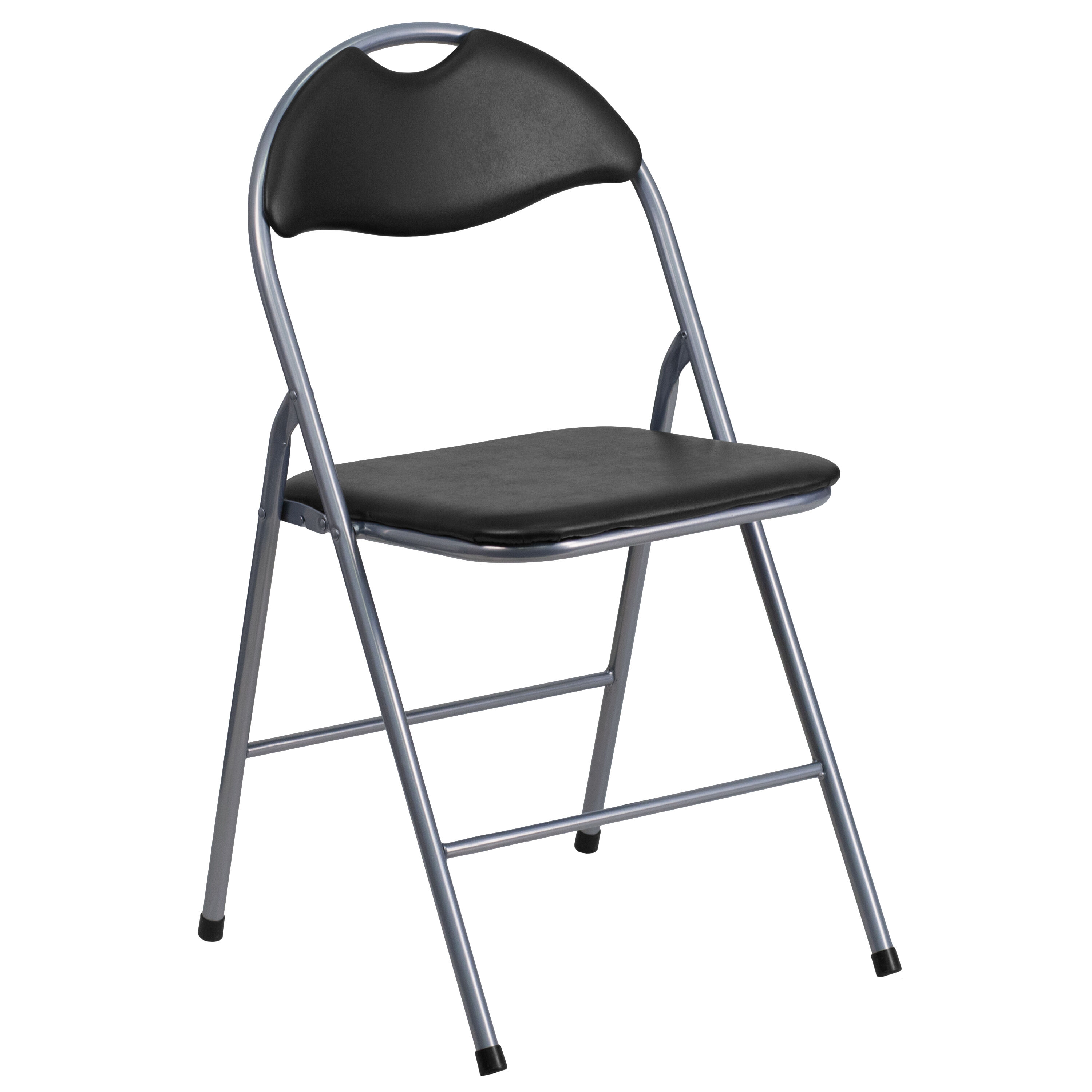 ... Our HERCULES Series Black Vinyl Metal Folding Chair With Carrying  Handle Is On Sale Now.