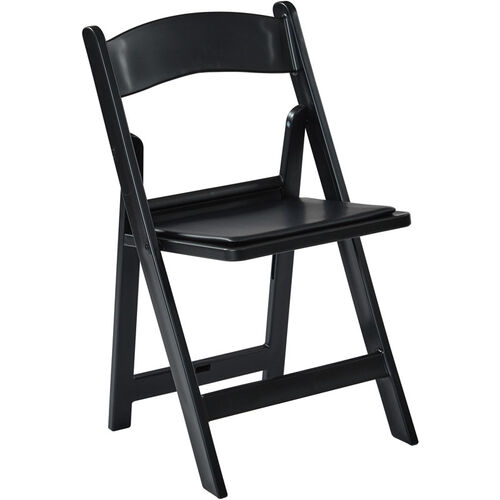 Our Work Smart Wedding Folding Chair with Resin Frame and Padded Seat - Set of 4 - Black is on sale now.