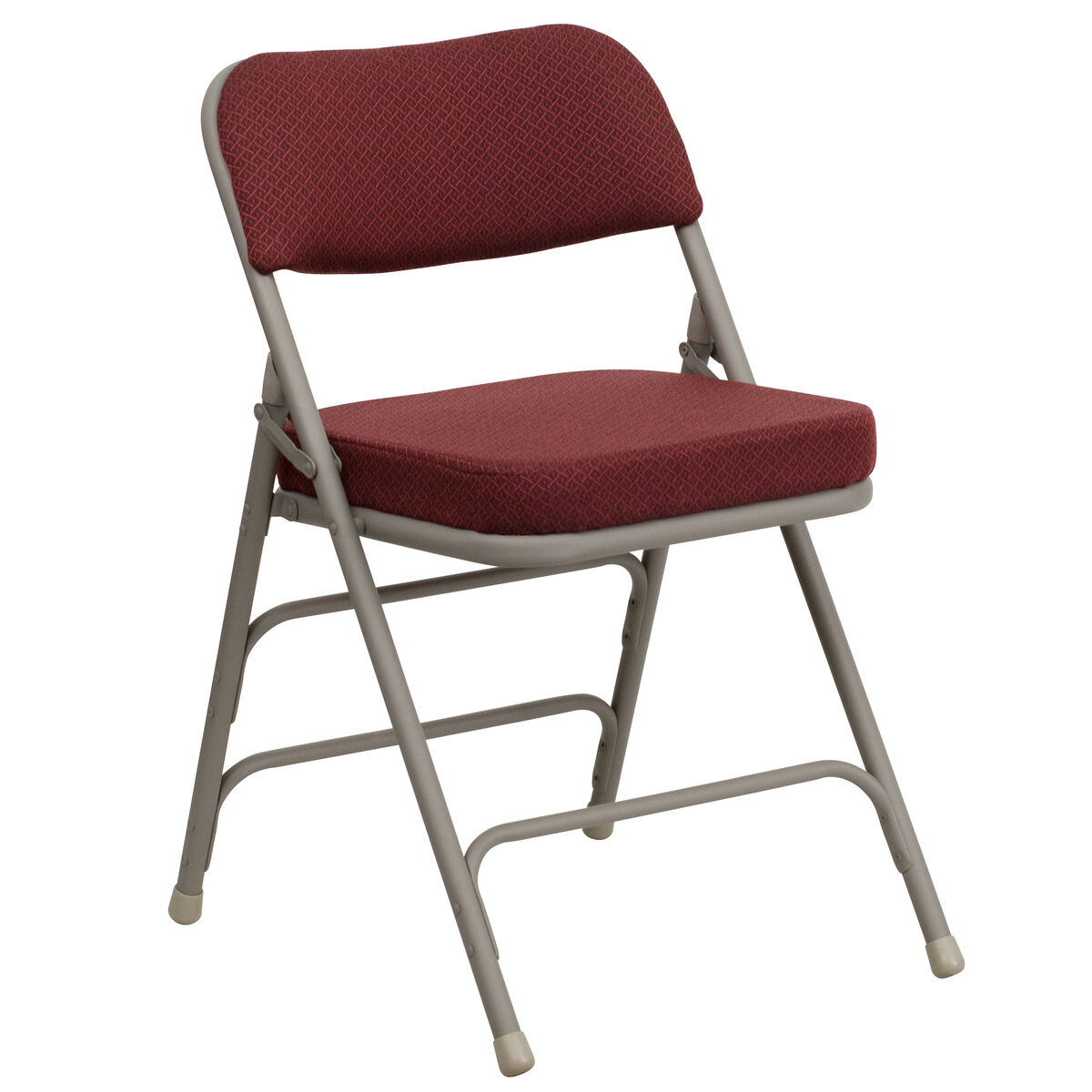 Burgundy Fabric Folding Chair Ha