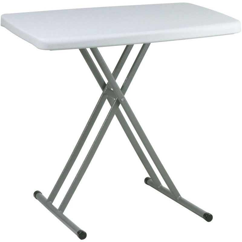 Work Smart Multi Purpose Adjustable Height Personal Tray Table   Set Of 4