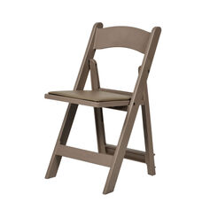 1000 lb. Max Resin Folding Chair - Set of 4 - Sand Beige