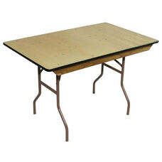 8' Rental Elite Series Folding Table with Non Marring Floor Glides - 30''W x 96''L x 30''H