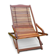 Malibu Outdoor Wood Folding Lounge Armchair