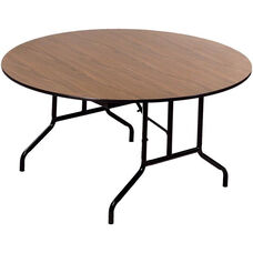 Round Laminate Top and Plywood Core Folding Seminar Table - 48