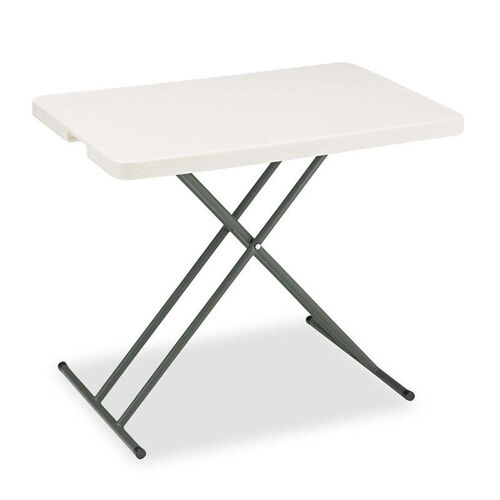 Our Iceberg IndestrucTables Too 1200 Series Resin Personal Folding Table - 30 x 20 - Platinum is on sale now.