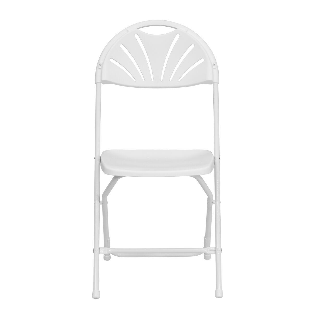 Outstanding Hercules Series 650 Lb Capacity White Plastic Fan Back Folding Chair Ibusinesslaw Wood Chair Design Ideas Ibusinesslaworg