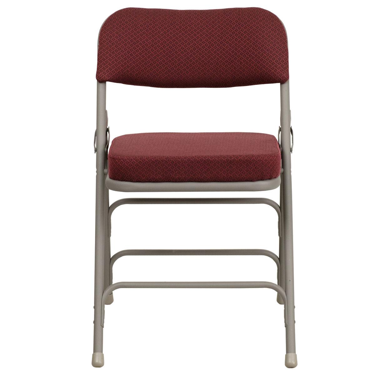 Burgundy Fabric Folding Chair Ha Mc320af Bg Gg