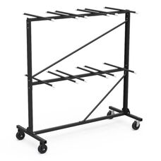 Quick Ship Two Tier Folding Chair Storage Rack - 30.75