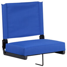 Grandstand Comfort Seats by Flash with Ultra-Padded Seat in Blue