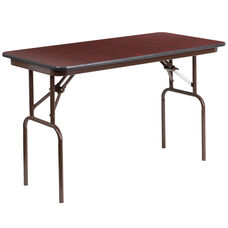 4-Foot High Pressure Mahogany Laminate Folding Banquet Table