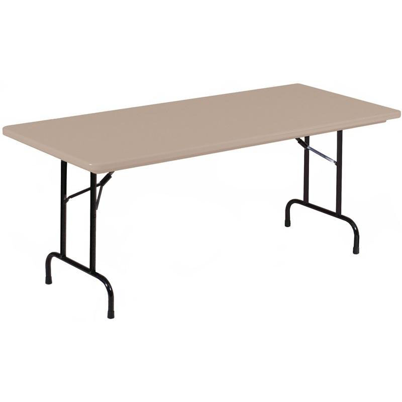 ... Our Standard Fixed Height Blow Molded Plastic Top Rectangular Folding  Table   30u0027u0027