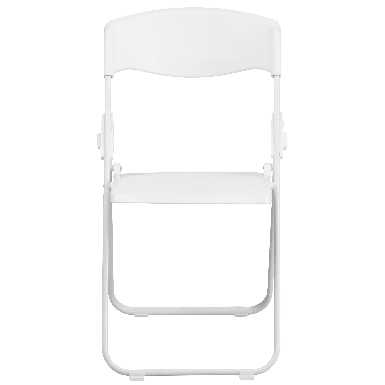 Images. HERCULES Series 880 Lb. Capacity Heavy Duty White Plastic Folding  Chair ...