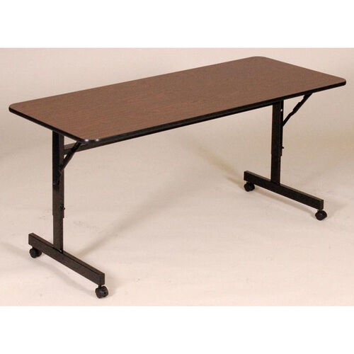Our Adjustable Height Rectangular EconoLine Melamine Flip Top Table - 24