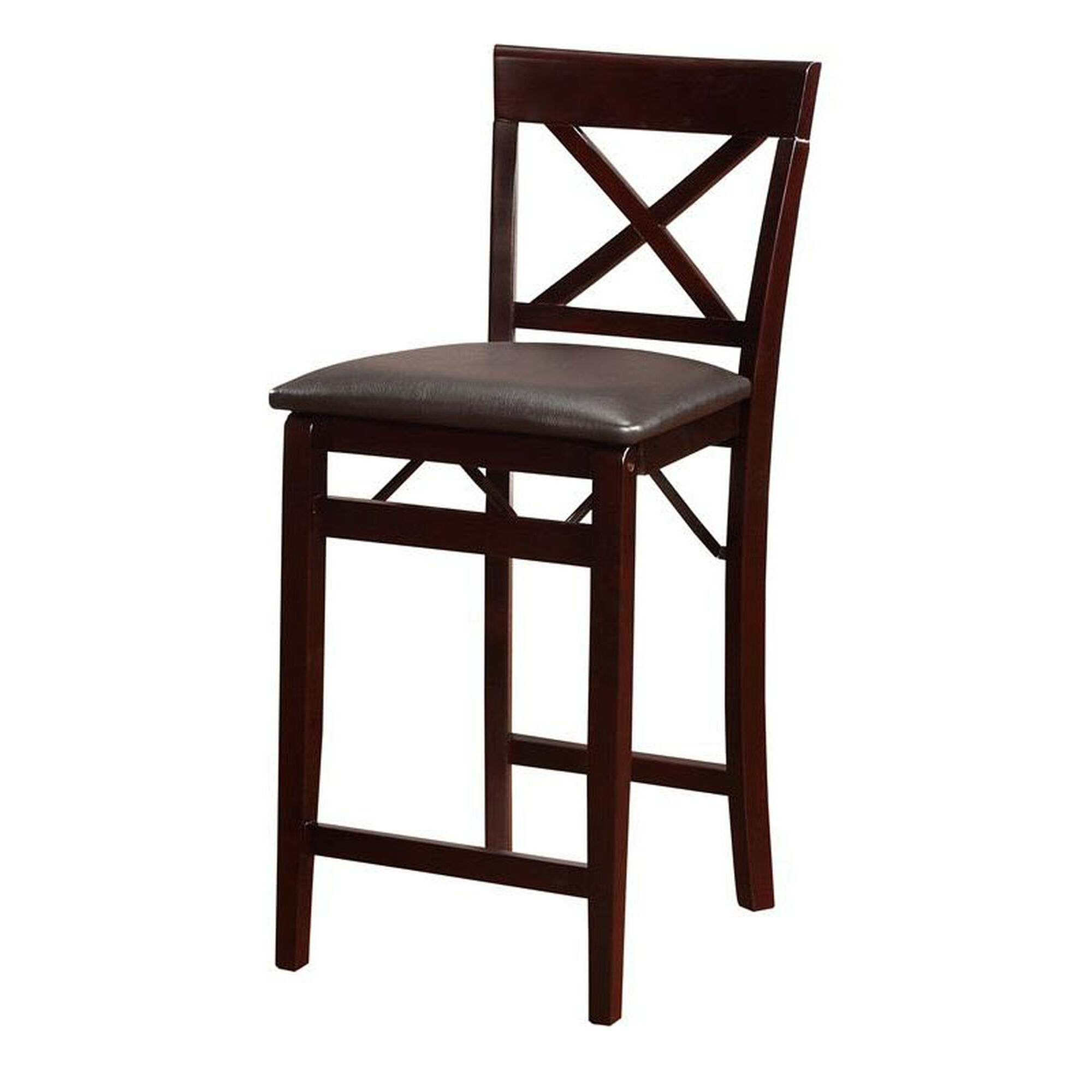 Linon Triena X Back 24 H Folding Counter Height Bar Stool
