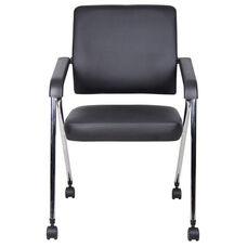 CaressoftPlus™ Nesting Training Chair with Chrome Frame - Set of 2 - Black