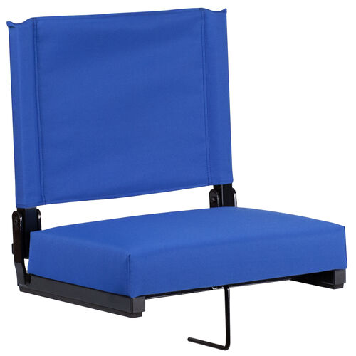 Our Grandstand Comfort Seats by Flash with Ultra-Padded Seat in Blue is on sale now.