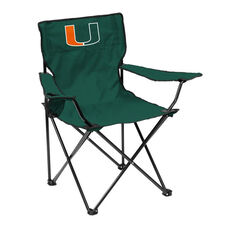 University of Miami Team Logo Folding Quad Chair