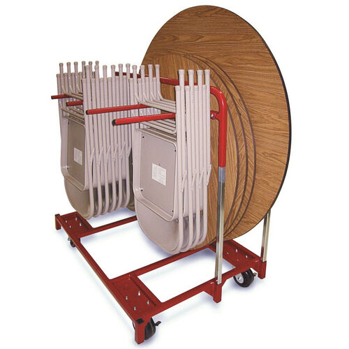 Steel Frame Folded Chair and Round Table Mover - 33