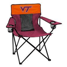 Virginia Tech Team Logo Elite Folding Chair